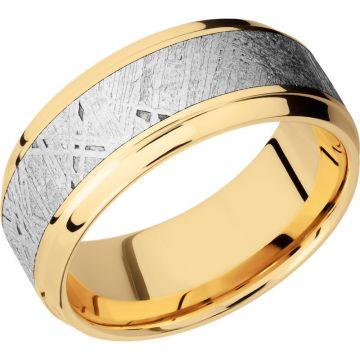 Lashbrook 14k Yellow Gold Meteorite 9mm Men's Wedding Band