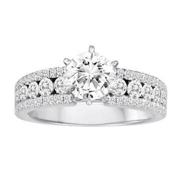 Diadori 18k White Gold Channel Set Diamond Engagement Ring