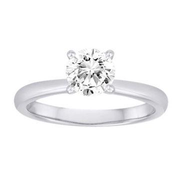 Diadori 18k White Gold Simple Diamond Engagement Ring