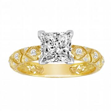 Diadori 18k Yellow Gold Diamond Engagement Ring