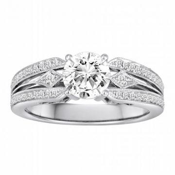 Diadori 18k White Gold Diamond Engagement Ring
