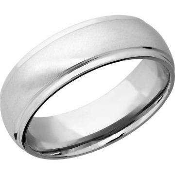 Lashbrook White Platinum 7mm Men's Wedding Band