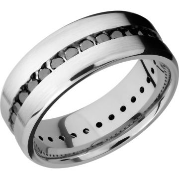 Lashbrook White Platinum Diamond 8mm Men's Wedding Band
