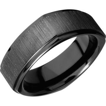 Lashbrook Black Zirconium 8mm Men's Wedding Band