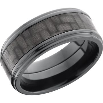 Lashbrook Black Zirconium 9mm Men's Wedding Band