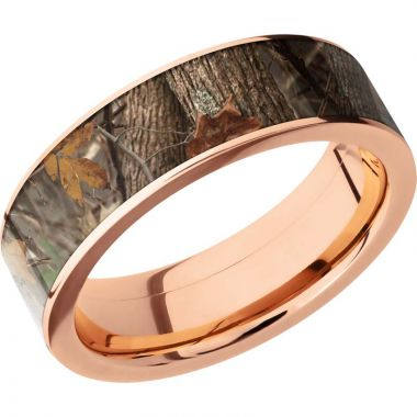 Lashbrook 14k Rose Gold 7mm Men's Wedding Band