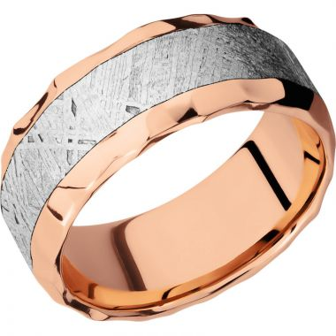 Lashbrook 14k Rose Gold Meteorite 9mm Men's Wedding Band