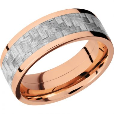 Lashbrook 14k Rose Gold 8mm Men's Wedding Band