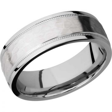 Lashbrook 14k White Gold 7.5mm Men's Wedding Band