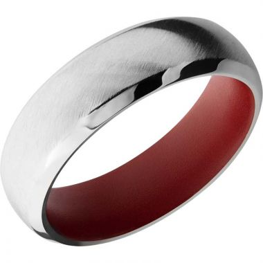 Lashbrook 14k White Gold 7mm Men's Wedding Band
