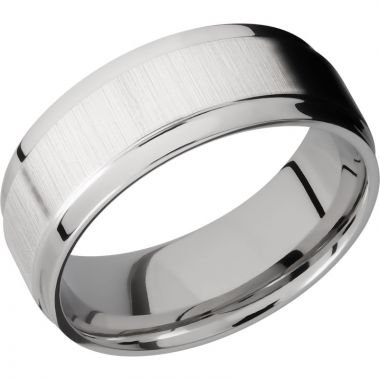 Lashbrook 14k White Gold 8mm Men's Wedding Band