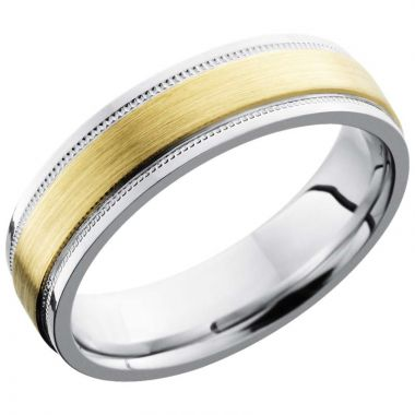Lashbrook White & Yellow Titanium 6mm Men's Wedding Band