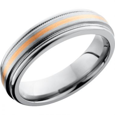 Lashbrook Rose & Titanium 6mm Men's Wedding Band
