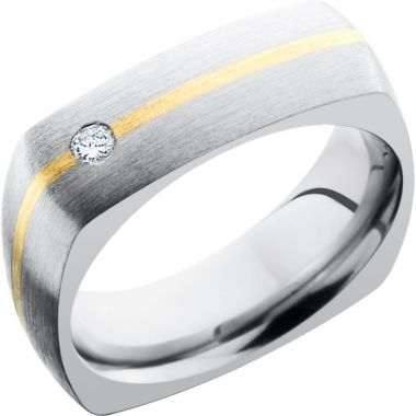 Lashbrook White & Yellow Titanium 7mm Men's Wedding Band