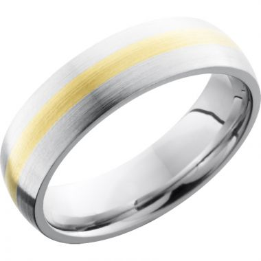 Lashbrook White & Yellow Cobalt Chrome 6mm Men's Wedding Band