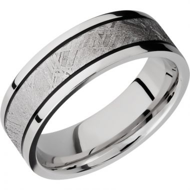 Lashbrook Cobalt Chrome Meteorite 7.5mm Men's Wedding Band