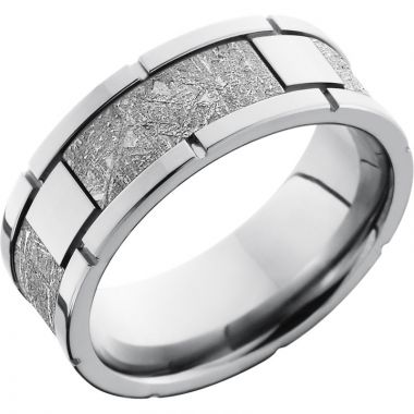 Lashbrook Cobalt Chrome Meteorite 8mm Men's Wedding Band
