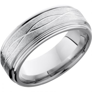 Lashbrook Cobalt Chrome 8mm Men's Wedding Band