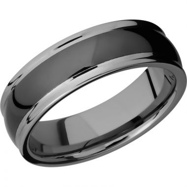 Lashbrook Black Tungsten 7mm Men's Wedding Band