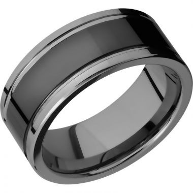 Lashbrook Black Tungsten 9mm Men's Wedding Band