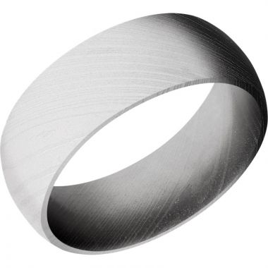 Lashbrook White Damascus Steel 8mm Men's Wedding Band