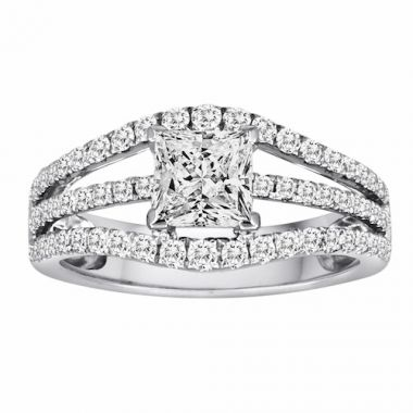 Diadori 18k White Gold Diamond Engagement Ring
