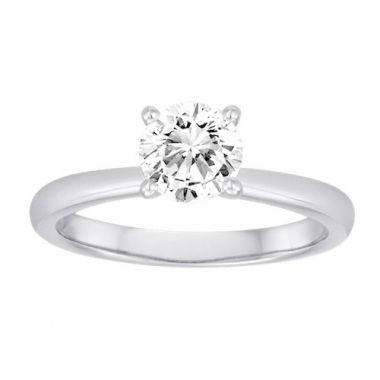 Diadori 18k White Gold Simple Diamond Engagement Ring