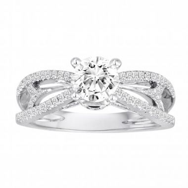 Diadori 18k White Gold Contemporary Diamond Engagement Ring