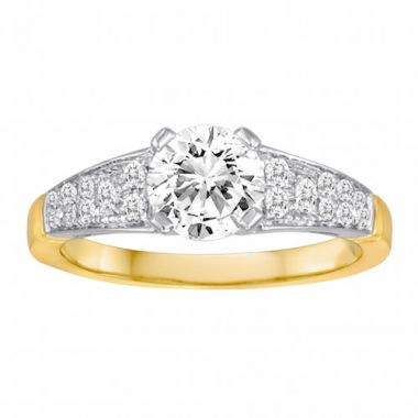 Diadori 18k Two Tone Diamond Engagement Ring