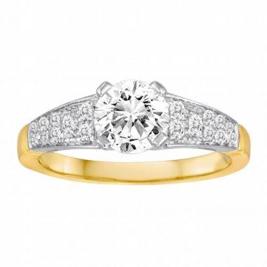 Diadori 18k Two Tone Diamond Engagement Ring