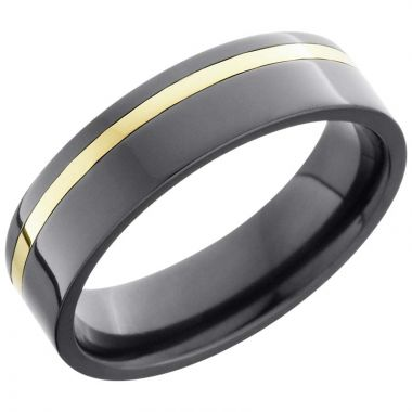 Lashbrook Black & Yellow Zirconium Men's Wedding Band