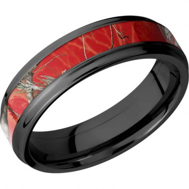 Lashbrook Black Zirconium 6mm Men's Wedding Band