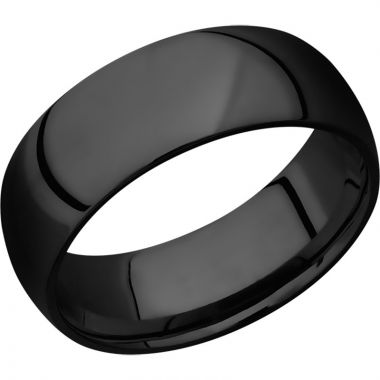 Lashbrook Black Zirconium 8mm Men's Wedding Band